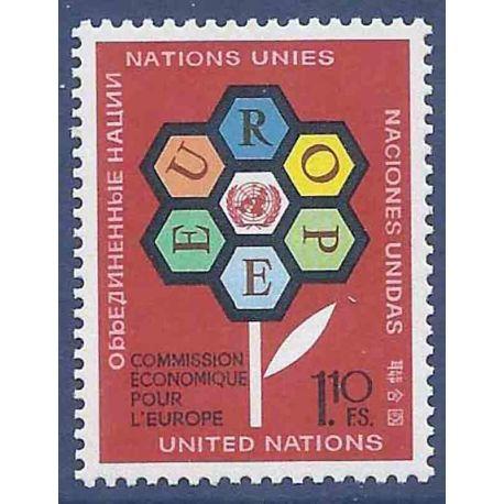Timbre collection ONU Genève N° Yvert et Tellier 27 Neuf sans charnière