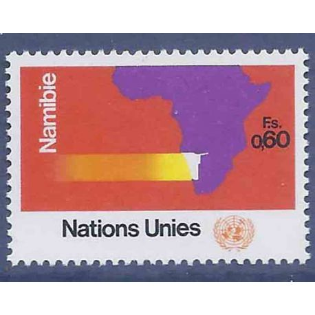 Francobollo raccolta ONU Ginevra N° Yvert e Tellier 34 nove senza cerniera