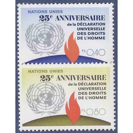 Timbre collection ONU Genève N° Yvert et Tellier 35/36 Neuf sans charnière