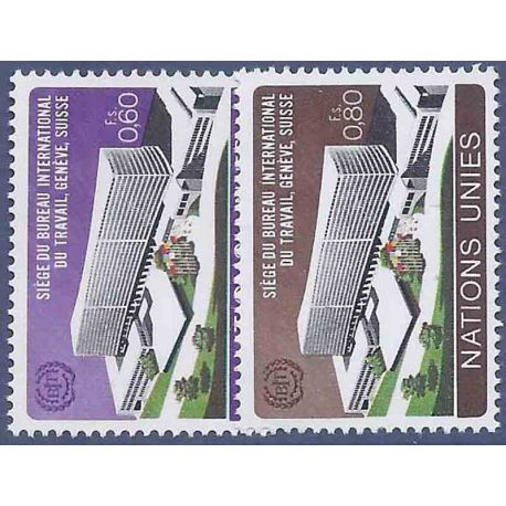Francobollo raccolta ONU Ginevra N° Yvert e Tellier 37/38 nove senza cerniera