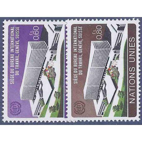 Timbre collection ONU Genève N° Yvert et Tellier 37/38 Neuf sans charnière