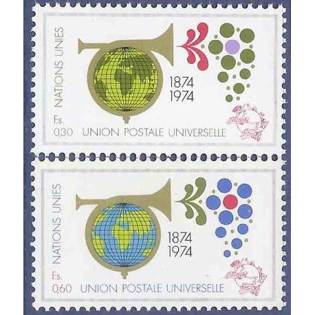 Timbre collection ONU Genève N° Yvert et Tellier 39/40 Neuf sans charnière