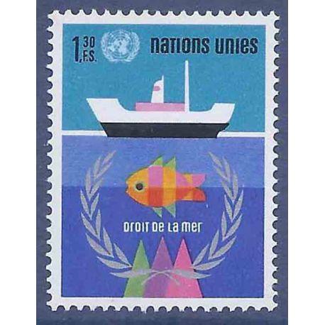 Francobollo raccolta ONU Ginevra N° Yvert e Tellier 45 nove senza cerniera