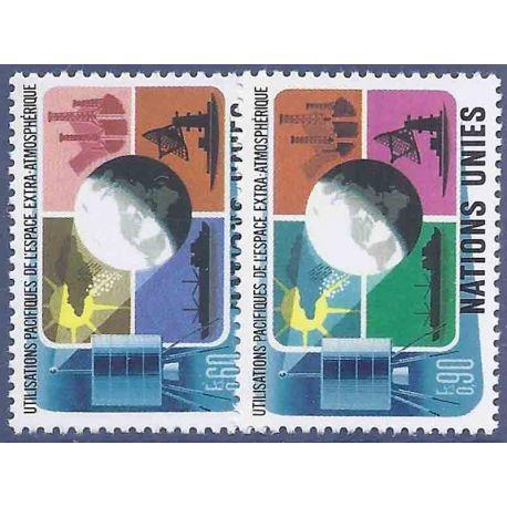 Timbre collection ONU Genève N° Yvert et Tellier 46/47 Neuf sans charnière