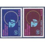 Briefmarkensammlung UNO Genf N° Yvert und Tellier 89/90 neun ohne Scharnier