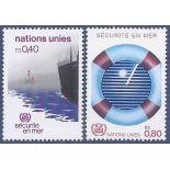Briefmarkensammlung UNO Genf N° Yvert und Tellier 112/113 neun ohne Scharnier