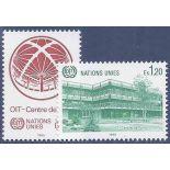 Briefmarkensammlung UNO Genf N° Yvert und Tellier 127/128 neun ohne Scharnier