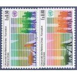 Briefmarkensammlung UNO Genf N° Yvert und Tellier 129/130 neun ohne Scharnier