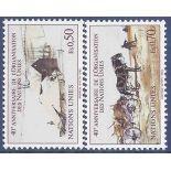 Briefmarkensammlung UNO Genf N° Yvert und Tellier 133/134 neun ohne Scharnier