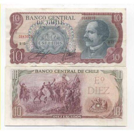 Billets de banque Chili Pk N° 142 - 10 Escudos