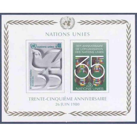 Francobollo raccolta ONU Ginevra N° Yvert e Tellier BF 2 nove senza cerniera