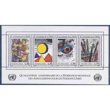 Francobollo raccolta ONU Ginevra N° Yvert e Tellier BF 4 nove senza cerniera