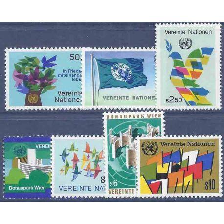 Francobollo raccolta ONU Vienna N° Yvert e Tellier 1/7 nove senza cerniera