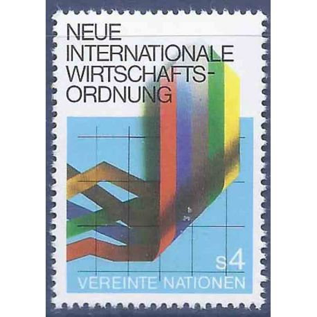 Francobollo raccolta ONU Vienna N° Yvert e Tellier 8 nove senza cerniera