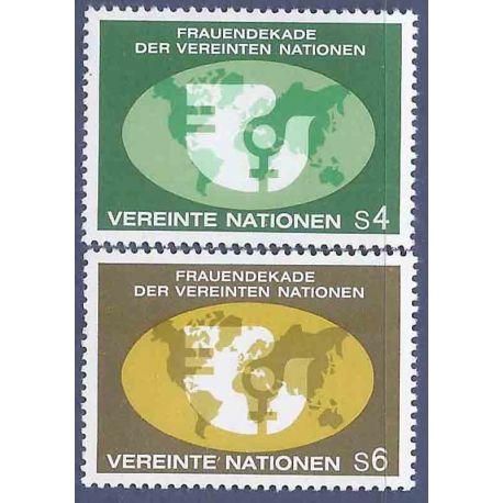 Briefmarkensammlung UNO Wien N° Yvert und Tellier 9/10 neun ohne Scharnier