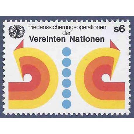 Francobollo raccolta ONU Vienna N° Yvert e Tellier 11 nove senza cerniera