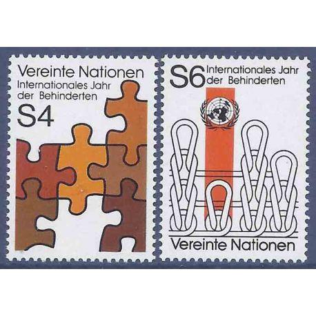 Timbre collection ONU Vienne N° Yvert et Tellier 17/18 Neuf sans charnière