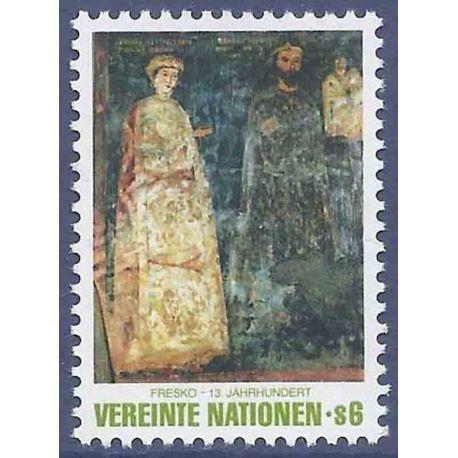 Francobollo raccolta ONU Vienna N° Yvert e Tellier 19 nove senza cerniera