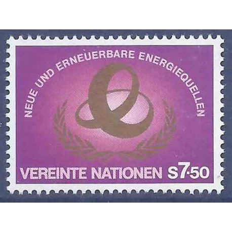 Francobollo raccolta ONU Vienna N° Yvert e Tellier 20 nove senza cerniera