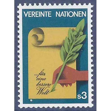 Francobollo raccolta ONU Vienna N° Yvert e Tellier 23 nove senza cerniera