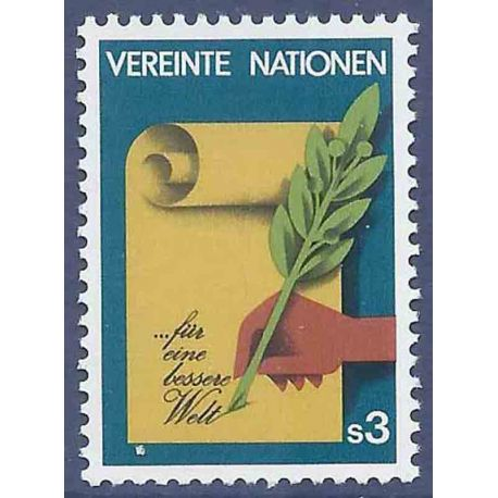 Timbre collection ONU Vienne N° Yvert et Tellier 23 Neuf sans charnière