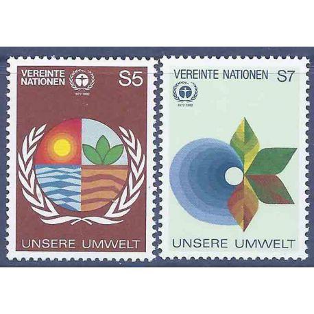 Francobollo raccolta ONU Vienna N° Yvert e Tellier 24/25 nove senza cerniera