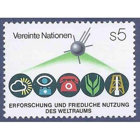 Francobollo raccolta ONU Vienna N° Yvert e Tellier 26 nove senza cerniera
