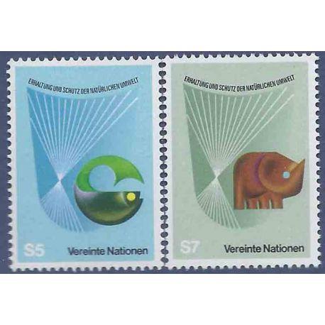 Briefmarkensammlung UNO Wien N° Yvert und Tellier 27/28 neun ohne Scharnier