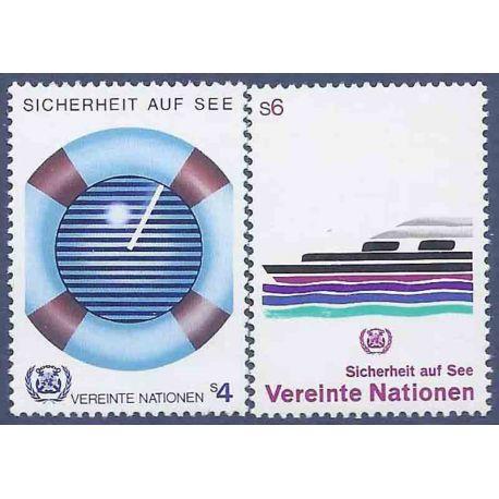 Francobollo raccolta ONU Vienna N° Yvert e Tellier 30/31 nove senza cerniera