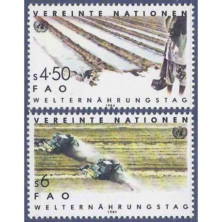 Francobollo raccolta ONU Vienna N° Yvert e Tellier 39/40 nove senza cerniera