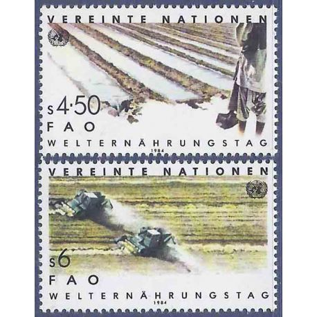 Timbre collection ONU Vienne N° Yvert et Tellier 39/40 Neuf sans charnière