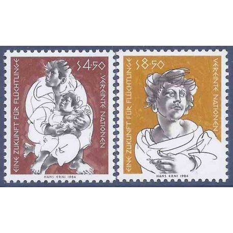 Timbre collection ONU Vienne N° Yvert et Tellier 43/44 Neuf sans charnière