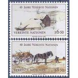 Francobollo raccolta ONU Vienna N° Yvert e Tellier 51/52 nove senza cerniera