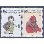 Francobollo raccolta ONU Vienna N° Yvert e Tellier 53/54 nove senza cerniera