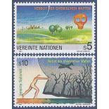 Briefmarkensammlung UNO Wien N° Yvert und Tellier 127/128 neun ohne Scharnier