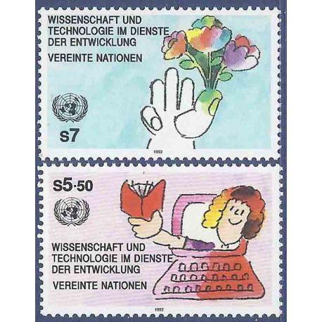 Briefmarkensammlung UNO Wien N° Yvert und Tellier 147/148 neun ohne Scharnier