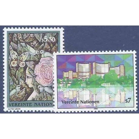 Timbre collection ONU Vienne N° Yvert et Tellier 149/150 Neuf sans charnière
