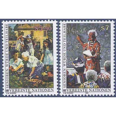 Briefmarkensammlung UNO Wien N° Yvert und Tellier 157/158 neun ohne Scharnier