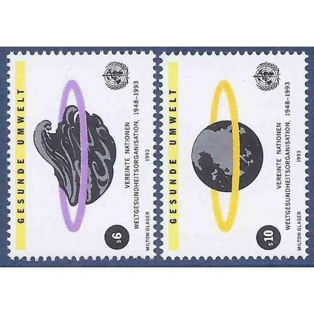 Briefmarkensammlung UNO Wien N° Yvert und Tellier 163/164 neun ohne Scharnier