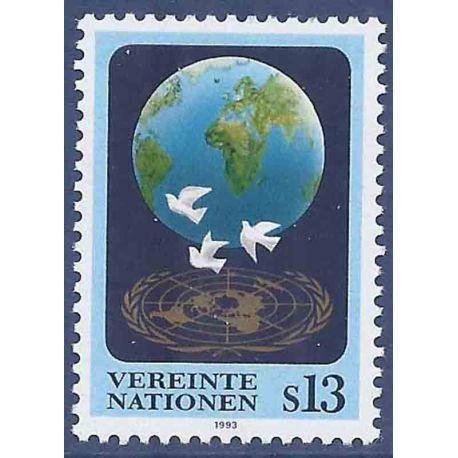 Timbre collection ONU Vienne N° Yvert et Tellier 165 Neuf sans charnière