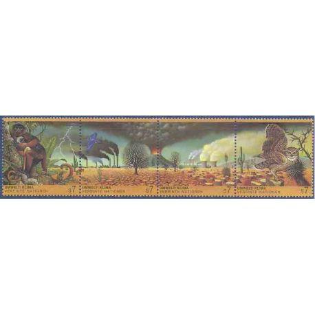 Briefmarkensammlung UNO Wien N° Yvert und Tellier 176/179 neun ohne Scharnier