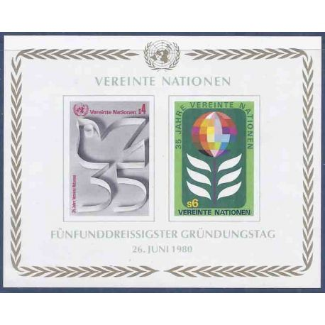 Timbre collection ONU Vienne N° Yvert et Tellier BF 1 Neuf sans charnière