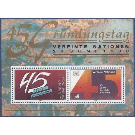 Briefmarkensammlung UNO Wien N° Yvert und Tellier blockieren 5 neun ohne Scharnier