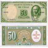 Billets banque Chili Pk N° 126 - 50 Pesos