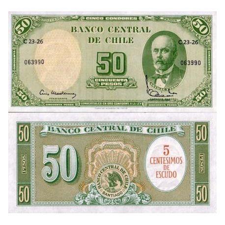 Chili - Pk N° 126 - Billet de 50 Pesos