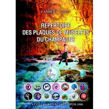 Das Register Lambert der Platten von muselet Champagne