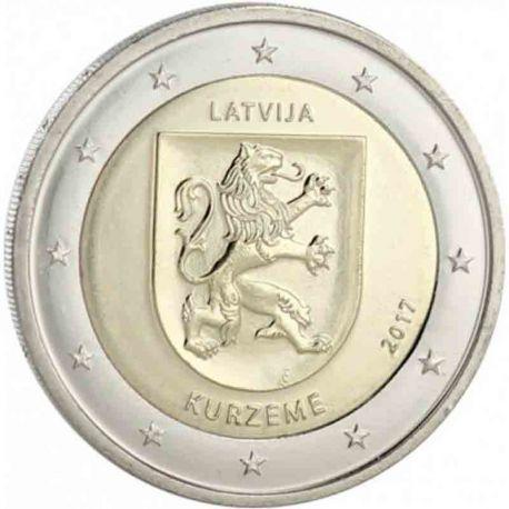 Lettonie - 2 Euro 2017 - Les armoiries de la région de Kurzeme