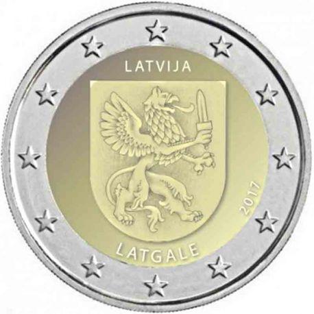 Lettonie - 2 Euro 2017 - Les armoiries de la région de Latgale