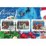 Bloc de 3 timbres Contes de Noel