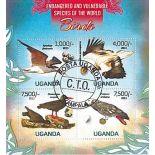 Bloc de 4 timbres Oiseaux du monde